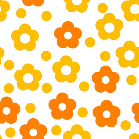 vector seamless flower wallpaper on white Vector