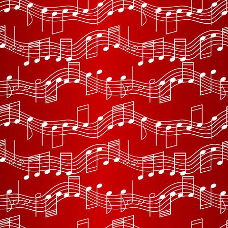 Naadloze patroon met muziek noten  Vector Illustratie