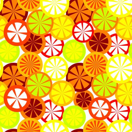 Vector seamless citrus background Illustration