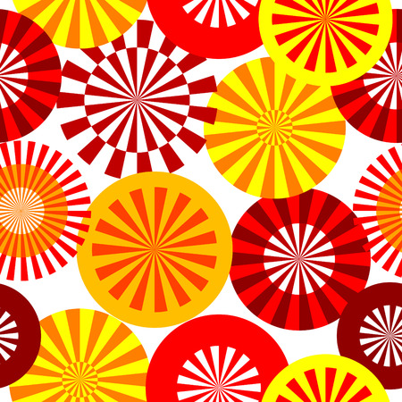 frantic: Retro yellow&red seamless circle and rays background.