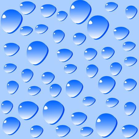 Vector blue water drops background Stock Vector - 4350050