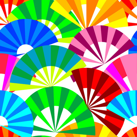 Vector seamless background with fan Stock Vector - 4391408