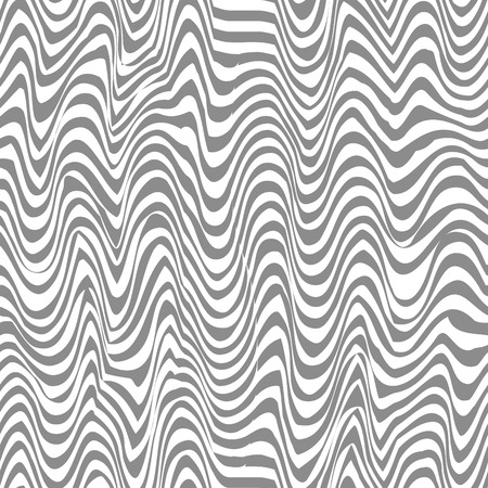 Seamless black and white abstract line vector pattern Vector