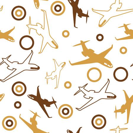 seamless airplane wallpaper Vector