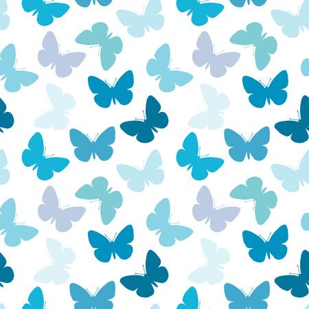 seamless blue butterfly wallpaper