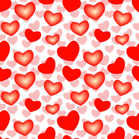 Seamless wallpaper valentine with hearts