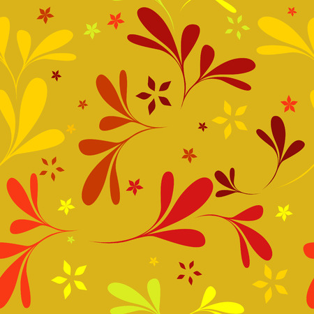 seamless red floral wallpaper Stock Vector - 4443389