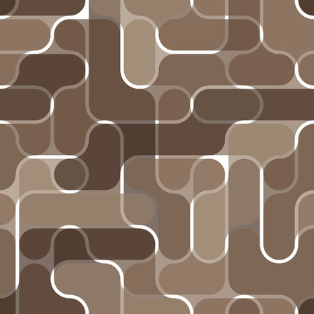 Seamless brown textile pattern Vector