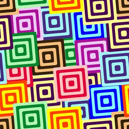 Retro vivid seamless square background Illustration
