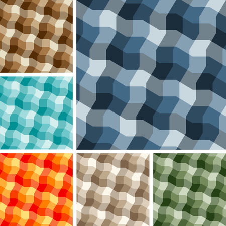 Big collection of seamless plaid patterns. Volume 13 Stock Vector - 4522229