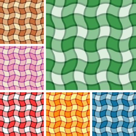 Big collection of seamless plaid patterns. Volume 15 Vector