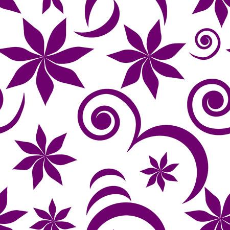 Seamless violet floral wallpaper Vector