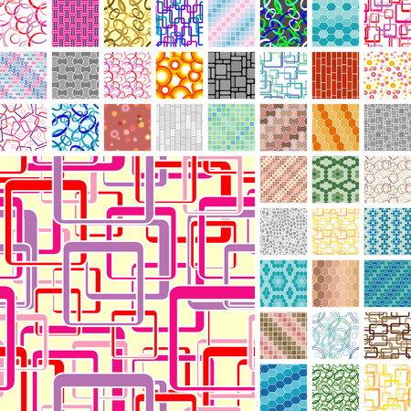 Set of 40 seamless patterns