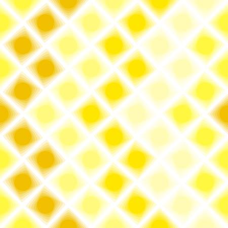 Yellow 3d tiles. Seamless vector pattern Vector