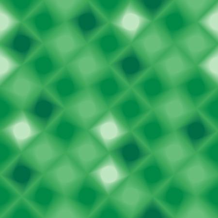 Green 3d tiles. Seamless vector pattern Vector