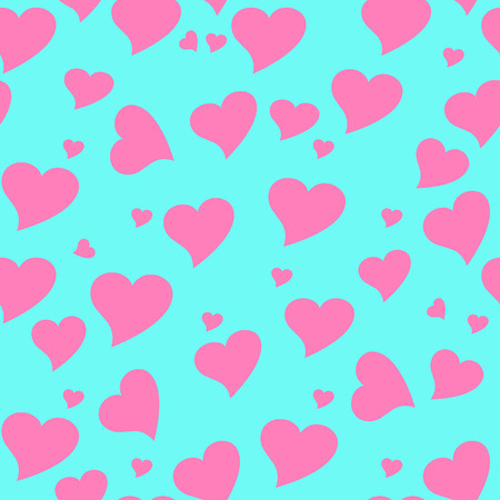 endearment: Seamless wallpaper valentine with hearts