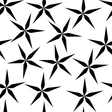 looping: Seamless simple black and white repeating flower background
