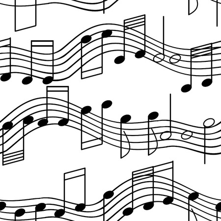 Seamless wallpaper with music notes Stock Vector - 4614042