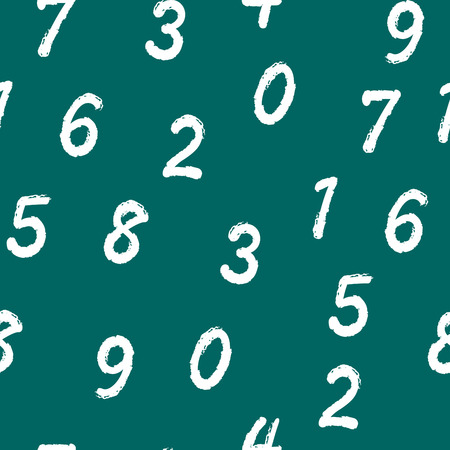 Numbers. Seamless vector wallpaper Vector