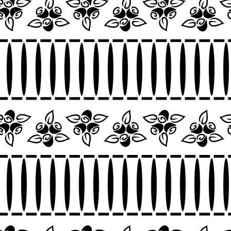 seamless black & white flower wallpaper Stock Vector - 4614041