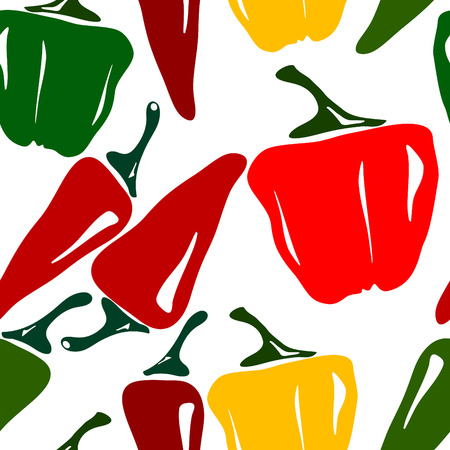 Seamless Chili Pepper background Vector