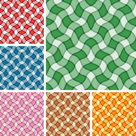 Big collection of seamless plaid patterns. Volume 17 Vector