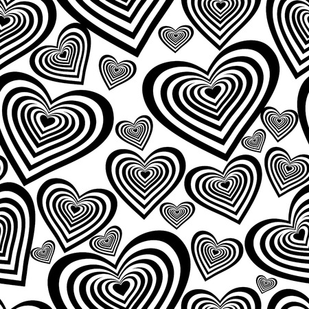 Seamless vector wallpaper with hearts