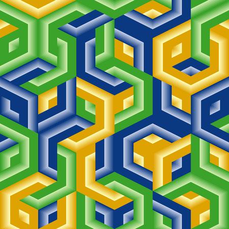 Retro vivid seamless hexagon background Vector