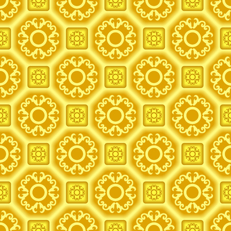 Seamless 3d tile vector pattern with ornament Vector