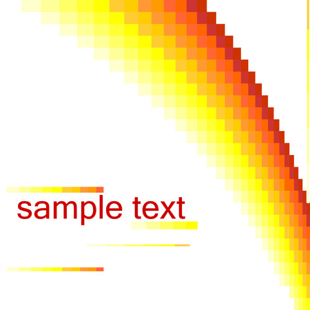 Abstract vector background hi tech illustration, with hot color pixels. Vector