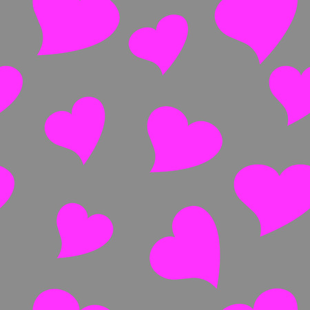 Seamless wallpaper valentine with hearts Vector