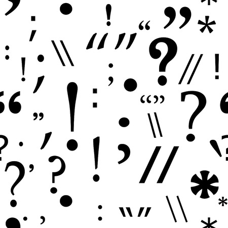 seamless background with punctuation marks Vector
