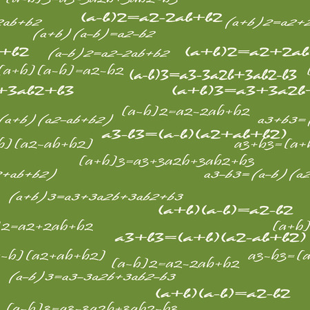 Seamlessly vector wallpaper mathematics on green Vector