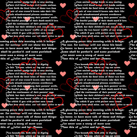 Seamlessly vector wallpaper valentine with text Stock Vector - 4861609