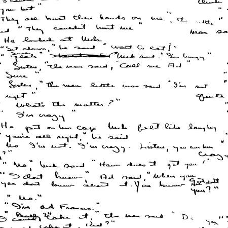 type writer: Seamless vector wallpaper basato su manoscritto