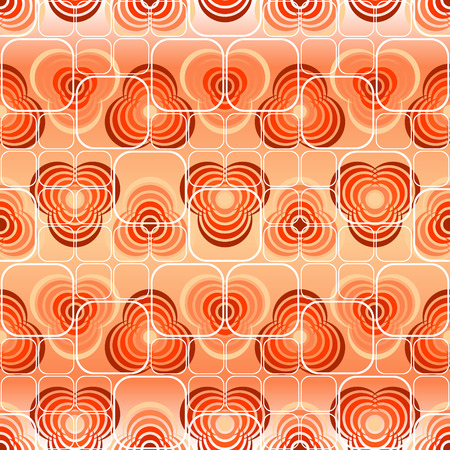Seamless red tile vector pattern with ornament Vector