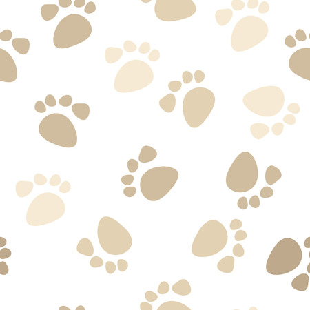 seamless footprint wallpaper Stock Vector - 4949007