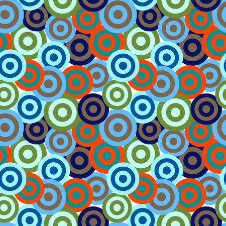 Retro vivid seamless circle background Stock Vector - 4948594