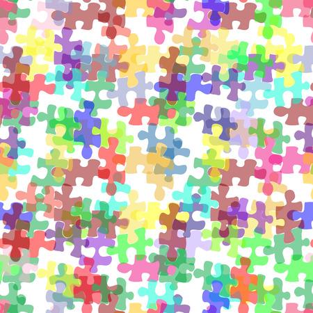 puzzelen: Naadloze abstracte achtergrond met raadselachtige elementen Stock Illustratie