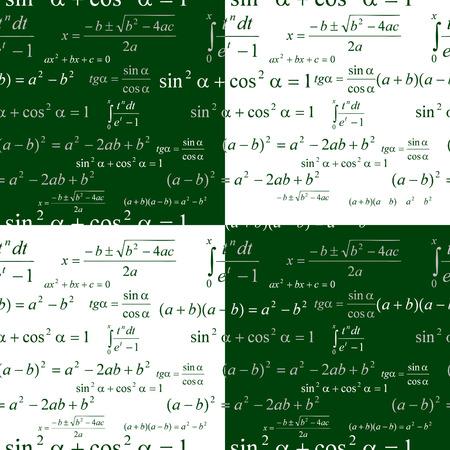Seamlessly vector wallpaper mathematics on green blackboard Stock Vector - 5119702