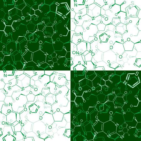 Seamlessly wallpaper chemistry scribbles on green blackboard Stock Vector - 5119700