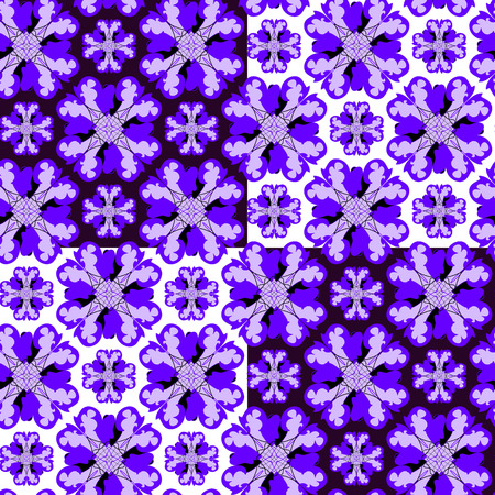 Seamless violet ornament vector pattern Vector