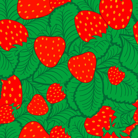 Seamless strawberry pattern Vector
