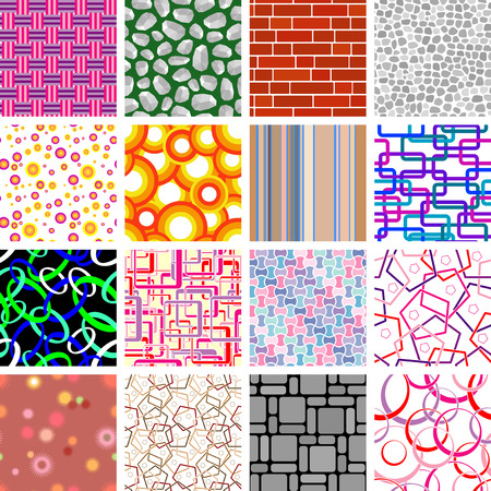 Big collection of seamless retro wallpapers Stock Vector - 5147856