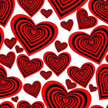 Seamlessly vector wallpaper valentine with hearts Vector