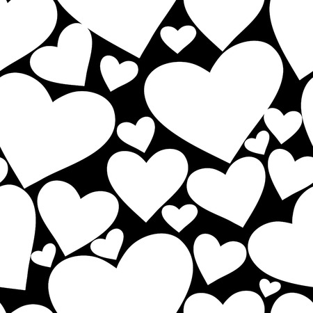 seamlessly: Seamlessly vector wallpaper valentine with hearts