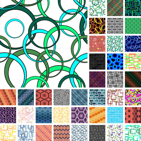 Set of 40 seamless patterns Stock Vector - 5147858