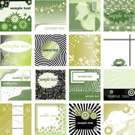 vector collection retro backgrounds for cards Stock Vector - 5213051