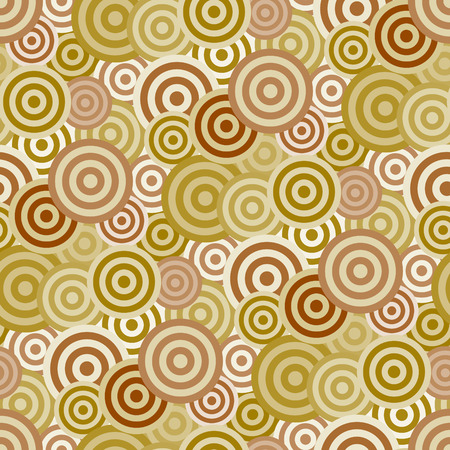 broun: Retro broun seamless circle background Illustration