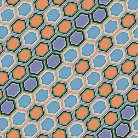 Hexagon tiles. Seamless vector pattern Stock Vector - 5213045
